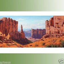 Canyon Oil Painting Utah Arizona Southwestern Landscape  Desert Art