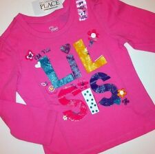 """NEW! """"I'm The Lil Sis"""" Girls Little Sister Graphic Shirt 12-18 24 Months 2T Gift"""