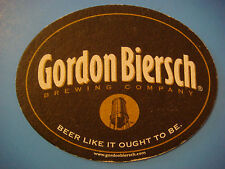Beer Breweriana COASTER ~ GORDON BIERSCH Brewing Co ~ Beer Like it Outht To Be!