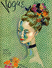 Vogue Cover Poster Emerald Green July 1935 Vintage Print, Poster or Canvas