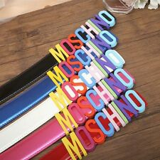 Ms fashion belt color letters candy color moschino belt&Box