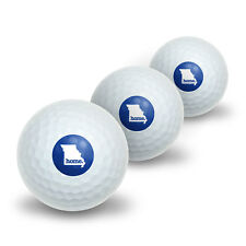 Missouri MO Home State Novelty Golf Balls 3 Pack