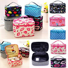 Makeup Mirror Bag Cosmetic Beauty Container Hand Case Pouch Portable Women Lady