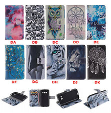 Retro pattern Leather slot wallet flip stand case skin cover For APPLE MOTO SONY