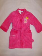 BNWT GIRLS LITTLE PIG CORAL VELVET PINK DRESSING GOWN SLEEPWEAR SIZE 0 TO 5