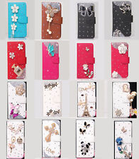 Luxury Shine Cross Wallet Leather Flip Case Cover for Various Samsung Cell Phone