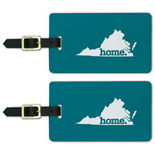 Virginia VA Home State Luggage Suitcase ID Tags Set of 2