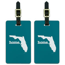 Florida FL Home State Luggage Suitcase ID Tags Set of 2