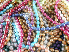 3 Strands 10x7mm Teardrop Glass Pearl Beads You Pick Color