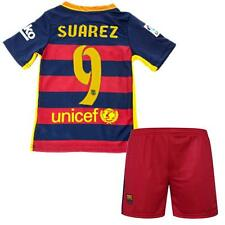 2015-16 Football Soccer Short Jersey Sleeve Kid boy 3-13 Y Barca Suit Sportswear