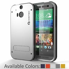 GHOSTEK® BULLET SLIM PROTECTIVE PREMIUM IMPACT HYBRID CASE COVER FOR HTC ONE M8