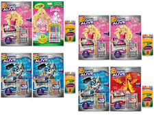 Crayola COLOR ALIVE x2 Barbie, Skylanders, Mythological Creatures + NEON Crayons