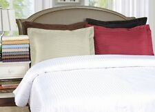 Luxe Collection Brushed Microfiber Striped Duvet Cover Pillow Sham Set