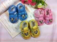 baby TODDLER shoe Girls boys pink mouse sandals Soft bottom infant shoes 0-14M