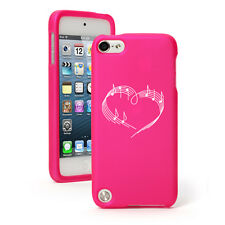 For Apple iPod Touch 4th 5th 6th Rubber Hard Case Cover Heart Love Music Notes