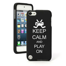 For Apple iPod Touch 4th 5th 6th Rubber Hard Case Cover Keep Calm Play Hockey