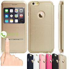 New Flip Leather Wallet View Window Skin Case Cover for Apple iPhone 6 / 6 Plus