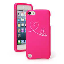For Apple iPod Touch 4th 5th 6th Rubber Hard Case Cover Heart Love Ice Skating