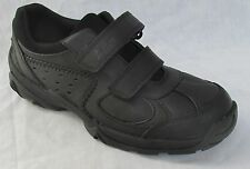 New Clarks Boys Air Teach Black Leather Active Air School Shoes F and G Fitting