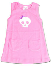 Pink Skull Dress Baby Toddler Punk Alternative Pockets Rockabilly Girl Gift Cute