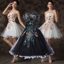 Teens Prom Short Party Dress PEACOCK Bridesmaid Cocktail Evening Party Prom Gown
