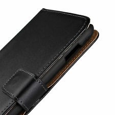 Black Genuine Leather Wallet Style Card Case Cover for HTC One X XL M7 M8 M9 Max