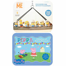 Despicable Me,Peppa Pig,Minnions Colouring & Activity Party Placemats 30 Pages