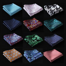 Paisley Floral Men Silk Satin Pocket Square Hanky Wedding Party Handkerchief FE