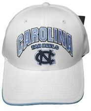 New! North Carolina Tar Heels Adjustable Velcro Back Hat Embroidered Cap - White