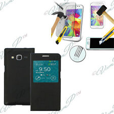 Etui Coque View Case Samsung Galaxy Core Prime/ SM-G360F + 1 Film Verre Trempe