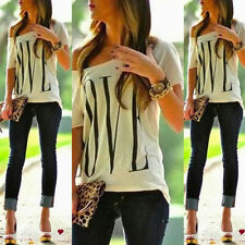 NEW Fashion Women's Sexy OFF Shoulder Short Sleeve Casual Tops T- Shirt Blouse