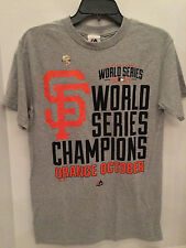 YOUTH GRAY SF GIANTS 2014 WS CHAMPS T SHIRT