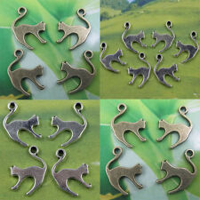 wholesale: 30/100pcs Retro style lovely cat alloy charms Pendants 19x13mm