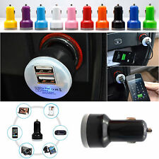 Universal 2-Port Dual 2.1A + 1A USB Car Charger Adapter Bullet For Mobile Phones