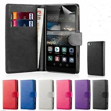 32nd Book Wallet PULeather Case for Huawei Phones + Screen Protector & Stylus