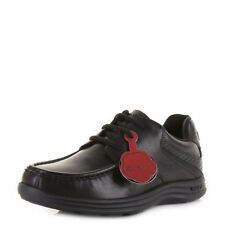 KICKERS YOUTH BOYS KIDS REASAN LACE LEATHER SCHOOL BLACK SMART SHOES UK SIZE