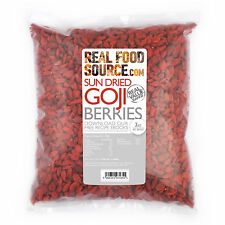 REALFOODSOURCE SUN DRIED GOJI BERRIES PRESERVATIVE FREE 1KG Only £11.95