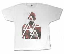 """LINKIN PARK """"BURN H. TOUR '12"""" WHITE BAND T-SHIRT NEW OFFICIAL ADULT"""