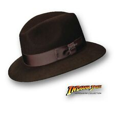 Indiana Jones Fedora Hat Crushable Brown Wool Felt Water Resistant M L XL Mens