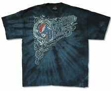 "GRATEFUL DEAD ""ORNATE"" BLUE TIE DYE T-SHIRT NEW OFFICIAL ADULT JERRY GARCIA BAND"