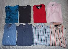 Lot of 8 Men's Shirts - LS Button Ups + T-Shirts Armani Michael Kors sz L Large