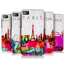 HEAD CASE WATERCOLOURED SKYLINE PROTECTIVE BACK CASE COVER FOR BLACKBERRY Z10