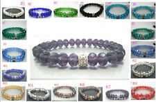NEW/Crystal Faceted Loose beads Cangyin Bracelet Stretch Bangle Woman's Jewelry