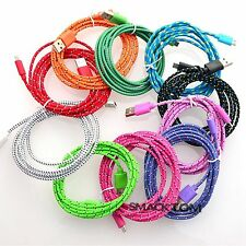 High Quality Braided Fabric Micro USB Charger Cable Data & Sync Cord For Andriod
