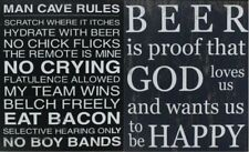 Funny Humorous Wooden Vintage Rustic Wall Plaque Saying Quotes- Beer / Man Cave
