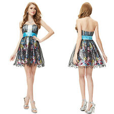 Ever Pretty Fashion Short Cocktail Ball Gown Cute Printed Party Dress 05052