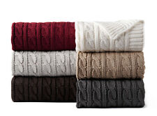 Luxury Knitted Cabled Throw