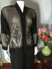Fancy Khaleeji Abaya Arabic button-up Half Open Jilbab Dubai Made Size S, M, L