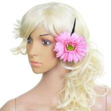 Trendy New Women Girls African Daisy Flower Hair Clip w/ Long Alligator Clip