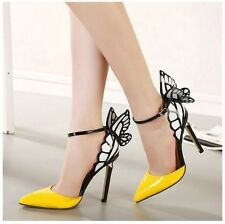 Vampire Diaries fantasy butterfly Wings high heeled Pointed Shoes Party Pumps